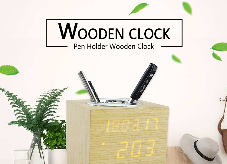 alarm clock pen holder