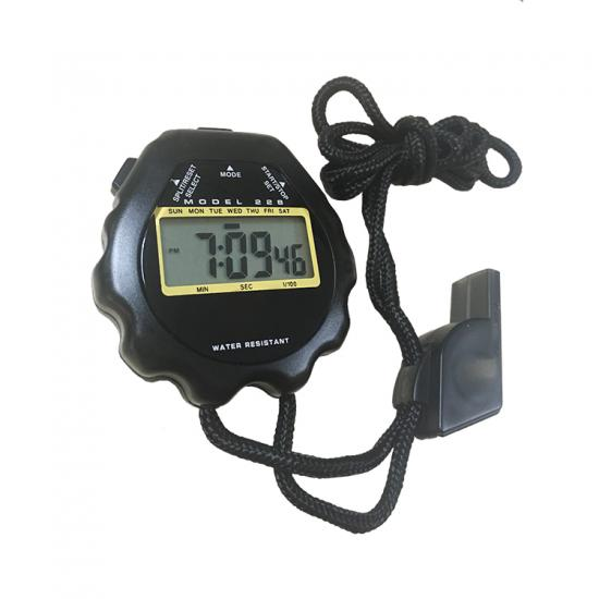 large LCD display digital stopwatch for school gym teacher with whistle
