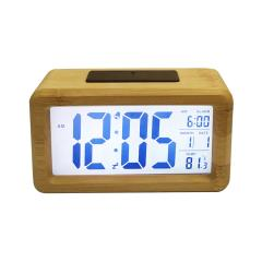 digital LCD travel smart clock with calendar and temperature