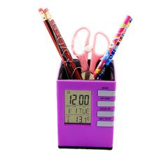 pen holder alarm clock