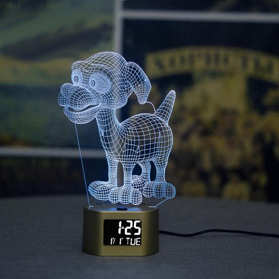 LCD newly design lamp table clock